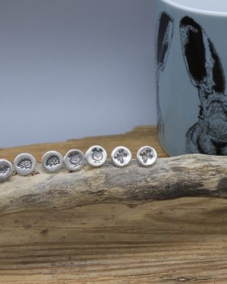 Wildlife silver stud earring collection