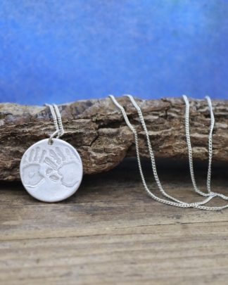 Bespoke hand print necklace