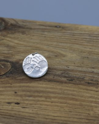 Round handprint keyring