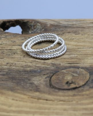 Beaded Eco Silver ring