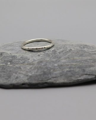 Hammered Notched Eco Ring