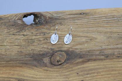 Heart Bark embossed drop earrings