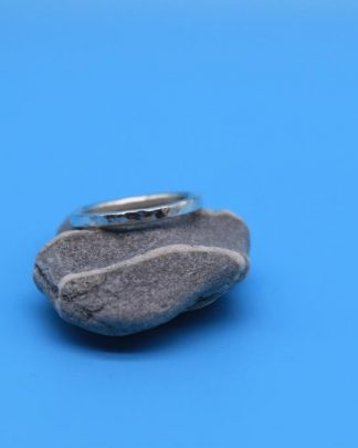 Hammered Pebbly Eco Ring