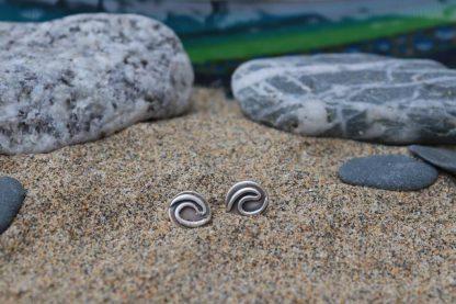 Surf wave eco stud earrings