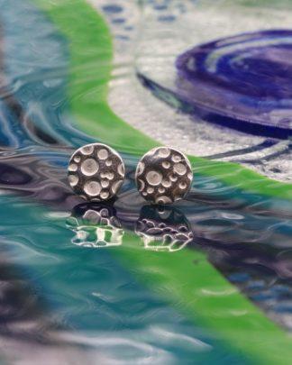 Large bubble stud earrings